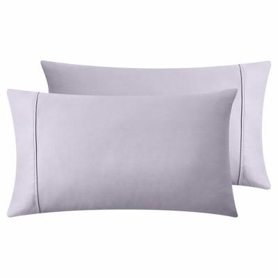 lavender grey standard pillowcases 400 thread count 100 cotton pillow cases california design den