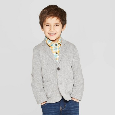 Toddler Boys' Novelty Knit Blazer - Cat & Jack™ Heather Gray