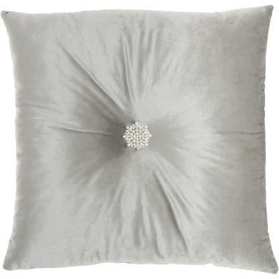 inspire me home dzcor l1097 grey 18 x18 throw pillow