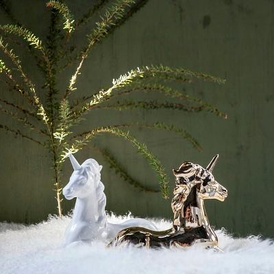 unicorn sculpture gold a