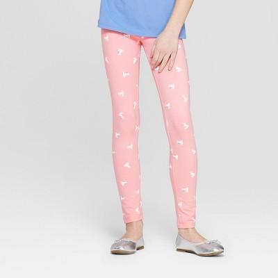 Girls' Bunny Printed Leggings - Cat & Jack™ Pink