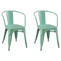 Low Back Lawn Chair Target Wheel Dimensions Carlisle Metal Dining Mint Green Set Of 2