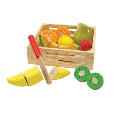 Melissa & Doug® Cutting Fruit Set - Wooden Play Food Kitchen Accessory