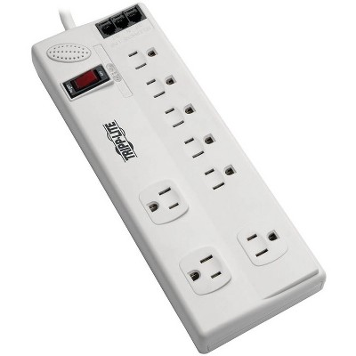 Tripp Lite Surge Protector Power Strip 8 Outlet 6ft Cord Tel/DSL 3150 J TAA