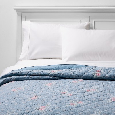 Lily Rose Chambray Quilt Blue - Simply Shabby Chic®