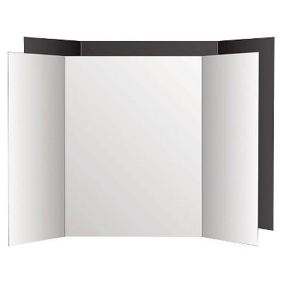 eco brites too cool tri fold poster board black white