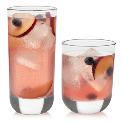 Libbey Assorted Polaris 16pc Cooler Glass Set
