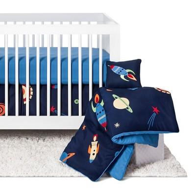 Sweet Jojo Designs Space Galaxy 11pc Crib Bedding Set - Blue