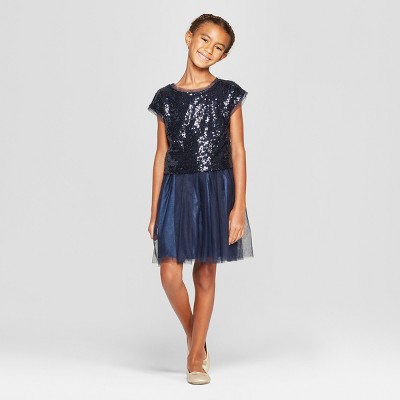 Girls' 2pc Sequin Dressy Dress - Cat & Jack™