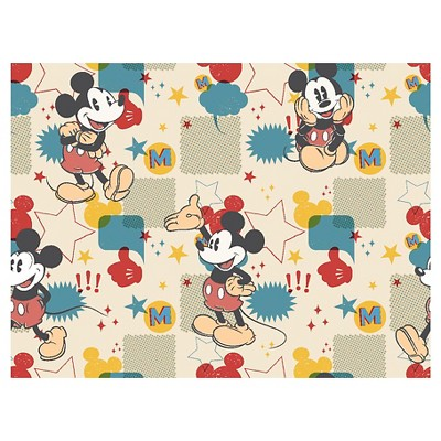 Mickey Mouse Comic Burst Flannel Fabric