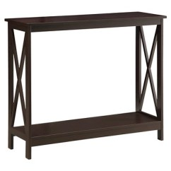 Target Sofa Table Espresso Contemporary Sectional Sofas Toronto Oxford Console Convenience Concepts