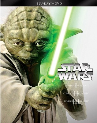 Star Wars Trilogy: Episodes I-III [6 Discs] [Blu-ray/DVD]