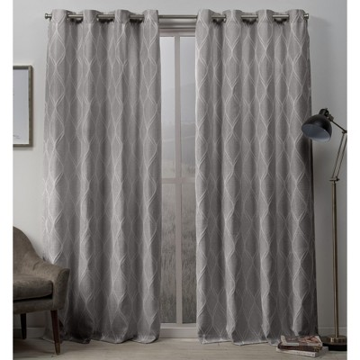 Sonos Ogee Textured Grommet Top Curtain Panel Pair -Exclusive Home
