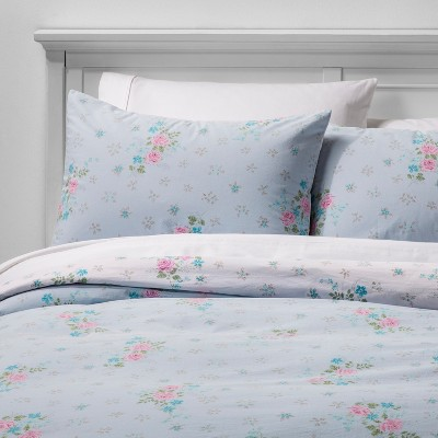 Lily Rose Duvet Cover Set Blue - Simply Shabby Chic®