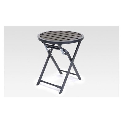 bryant faux wood folding patio accent table project 62