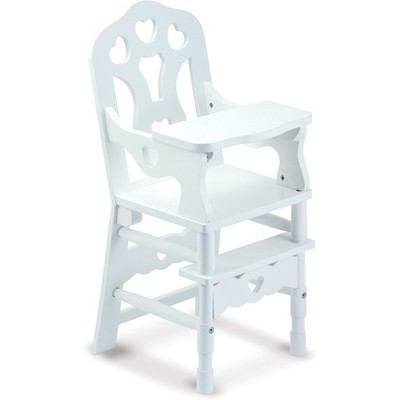 baby doll high chairs ikea glider rocker chair melissa doug white wooden with tray 14 75 x 25 inches target