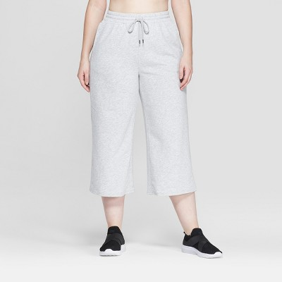 "Women's Plus Size Wide Leg Crop Pants 22.5"" - C9 Champion® Heather Grey"