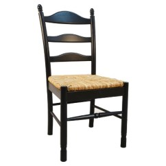 Rush Seat Chairs Gold Damask Chair Covers Aurora Dining Antique Black Carolina And Table