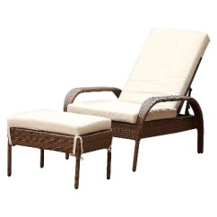 Wicker Chaise Lounge Chairs Outdoor Folding Chair Brands 2pc Manchester With Cushion Ottoman Brown Abbyson Living Target