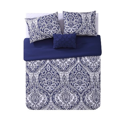 Tori Comforter Set Navy - VCNY Home