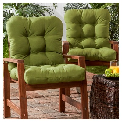 chair cushions outdoor covers the range set of 2 seat back hunter green greendale home fashions target