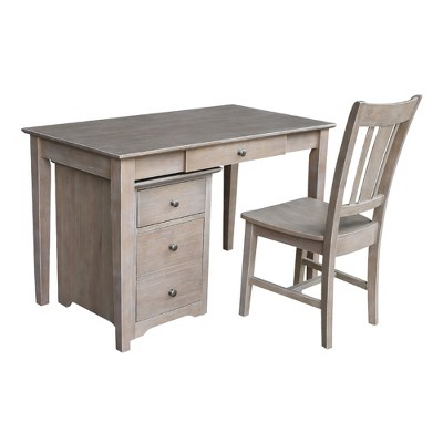 Skip 2 Drawer File Cabinet with Desk and Chair - International Concepts