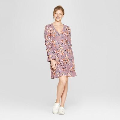 Women's Long Sleeve Button Front Dress - Xhilaration™