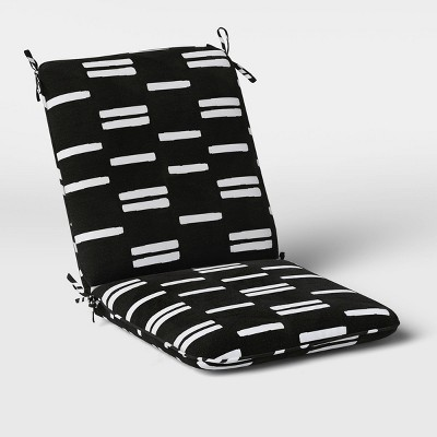 stripe outdoor chair cushion duraseason fabric black white project 62