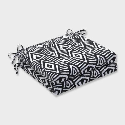 20 x 20 x 3 2pk geometric dimensions squared corners outdoor seat cushions black pillow perfect