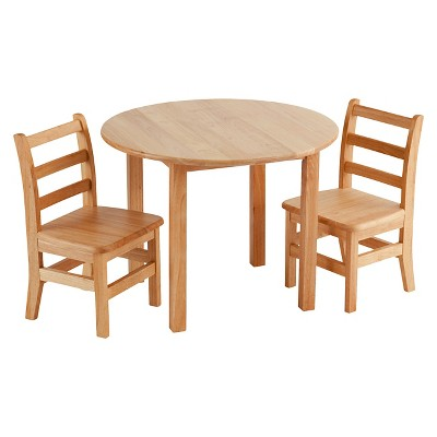 table with chairs round microfiber swivel chair hardwood and set ecr4kids target