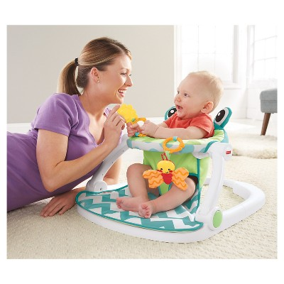 fisher price sit and play chair round wooden me up floor seat citrus frog target