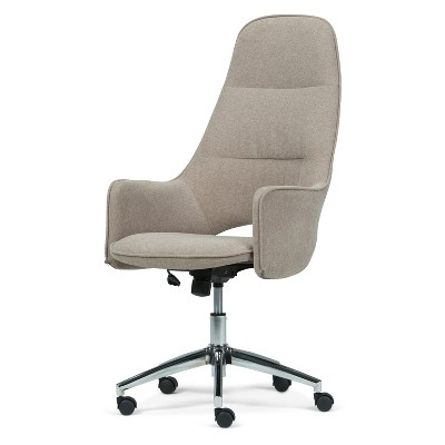 swivel office chair with wheels chairs at rooms to go specter large taupe micro fiber fabric wyndenhall