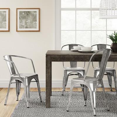 high back dining chair yellow club carlisle metal set of 2 natural ace bayou target
