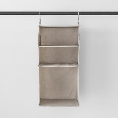3 Shelf Hanging Fabric Storage Organizer Light Gray - Made By Design™