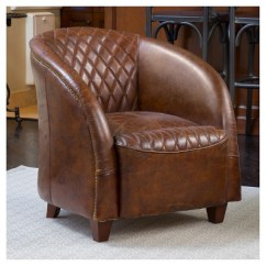 Christopher Knight Club Chair Patio Rocking Canada Rahim Tufted Leather Brown Home Target