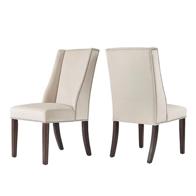 Harlow Velvet Wingback Dining Chair with Nailheads set of 2 - Inspire Q