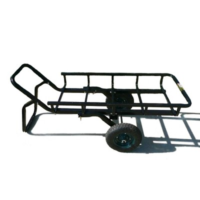 viking solutions vks vtg401 tilt n go combo lifting hunting deer trailer and hauler cargo rack with hitch adapter and 13 5 inch wheels black