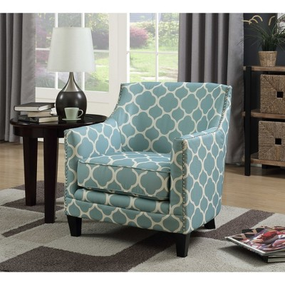 aqua accent chair adele tub deena blue picket house furnishings target