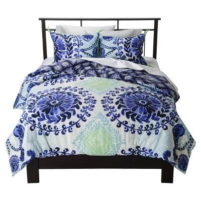 Haze Reversible Comforter Set Blue