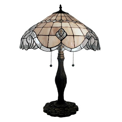Tiffany Style Pearl White Baroque Table Lamp (Lamp Only)