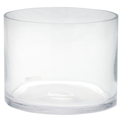 "Diamond Star Glass Cylinder Vase Clear 6""x6""x8"""