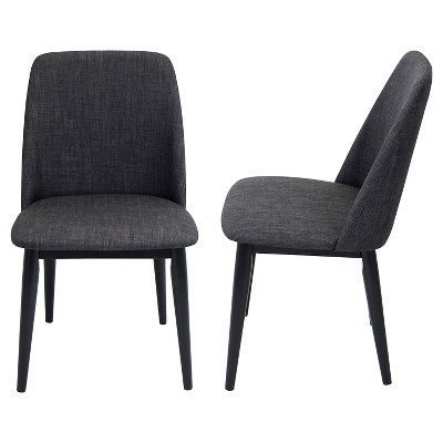 modern gray dining chairs foldable cushion chair tintori mid century set of 2 lumisource target