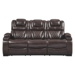 Living Room Reclining Sofas Rooms Decorated In Navy Blue Warnerton Power Sofa With Adjustable Headrest Chocolate Brown Signature Design By Ashley Target