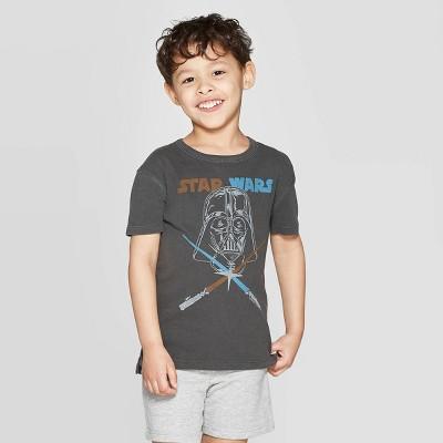 Junk Food Toddler Boys' Short Sleeve T-Shirt Star Wars Darth Vader Americana - Black