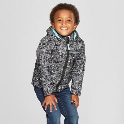 Toddler Boys' Midweight Puffer Jacket - Cat & Jack™ Black