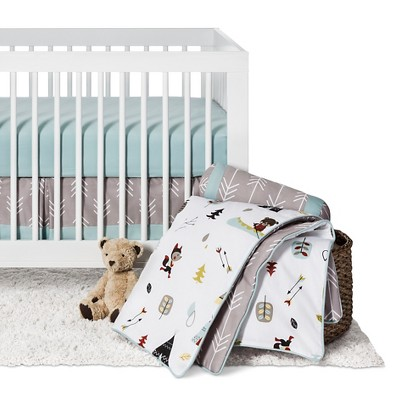 Sweet Jojo Designs Outdoor Adventure 11pc Crib Bedding Set - Gray