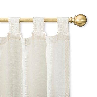 brass double curtain rods target
