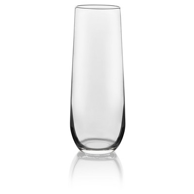 Libbey Stemless Flute Glass Set of 12 - 8.5 oz