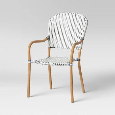 french bistro stacking patio accent chair threshold