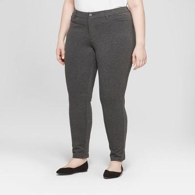 Women's Plus Size Ponte Pants with Comfort Waistband - Ava & Viv™